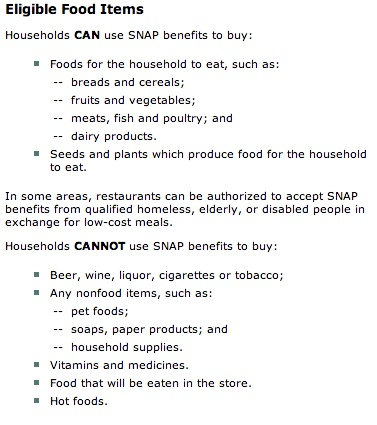 Items You Can Buy With Food Stamps