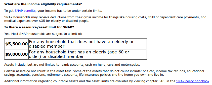... eligibility guidelines. The image below shows the eligibility income